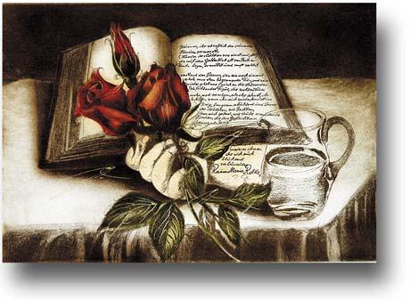 Halm, Friedrich Buch und Rose Gedicht