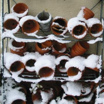 Topfvorrat im Winter