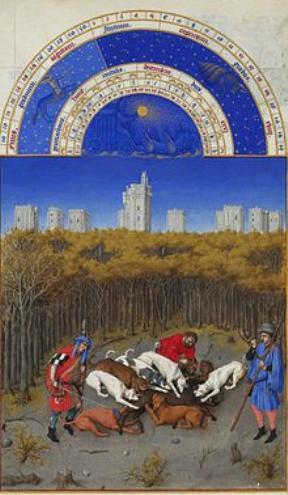 Stundenbuch des Herzogs von Berry Dezember