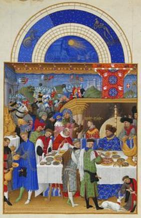 Monatsbild Stundenbuch des Herzogs von Berry Januar
