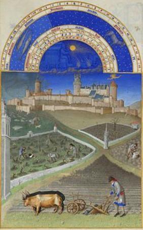 Monatsbild Stundenbuch des Herzogs von Berry März