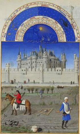 Stundenbuch des Herzogs von Berry Oktober