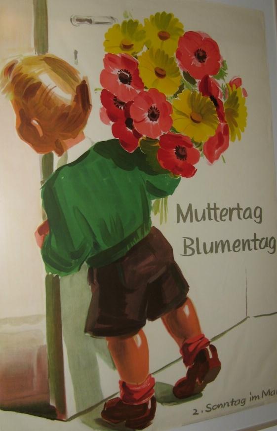 Открытка на немецком языке на 8 март, сделать открытку стиле